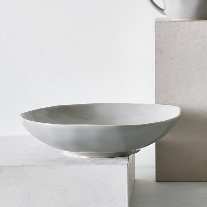 Portobello Pasta Bowl, Grey