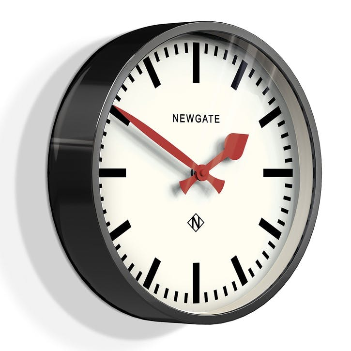 The Luggage Clock, 30cm; Gloss Black