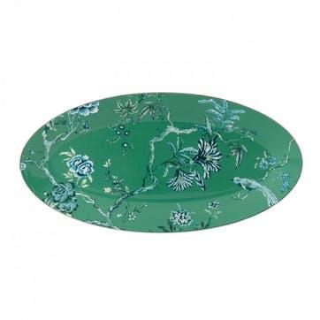 Chinoiserie Oval Platter, Medium, Green