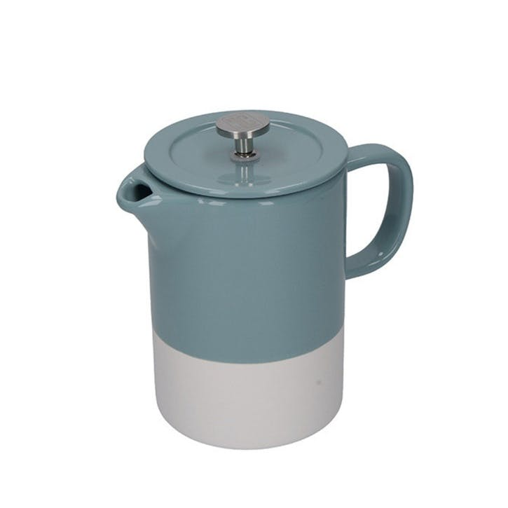 Barcelona Cafetiere, 6 Cup, Retro Blue