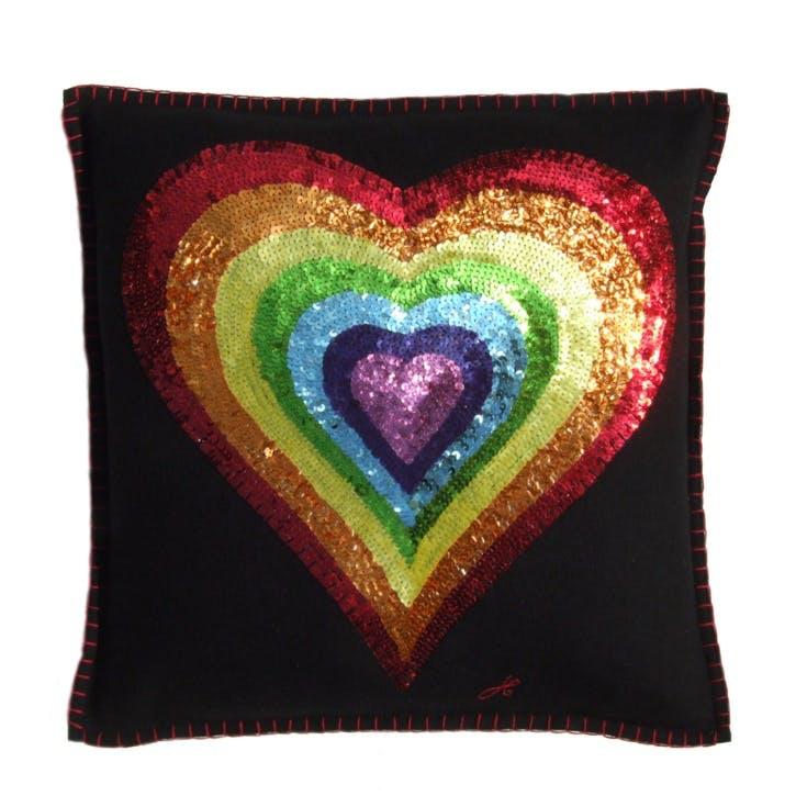 Sequin Heart Cushion