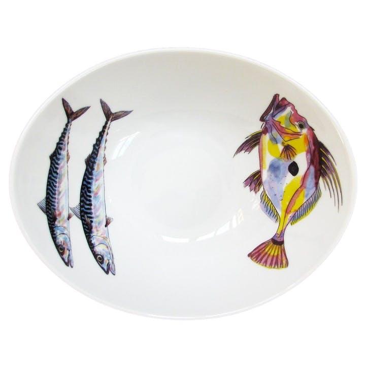 John Dory & Mackerel Oval Bowl - 18cm