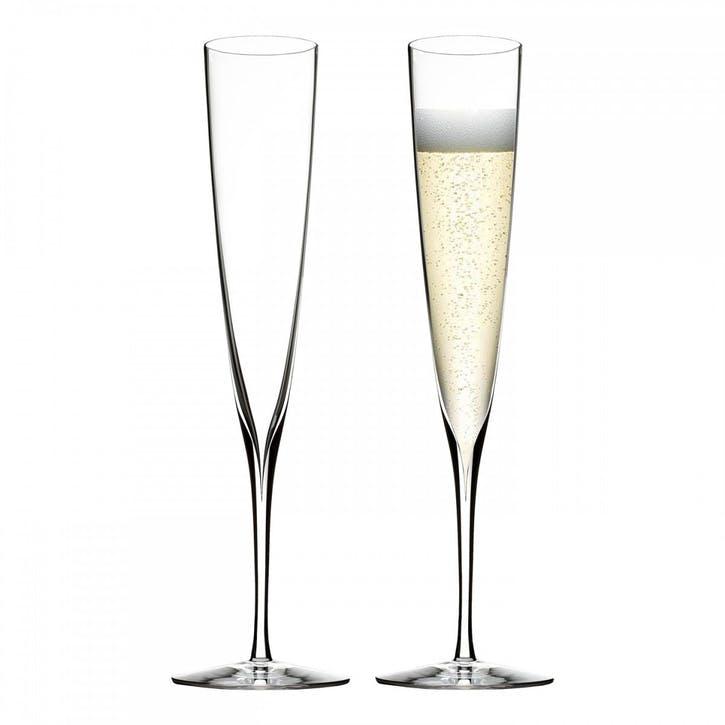 Elegance Champagne Trumpet Flute, Set of 2