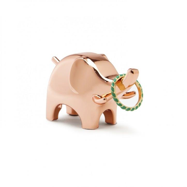 Anigram Elephant Ring Holder, Copper