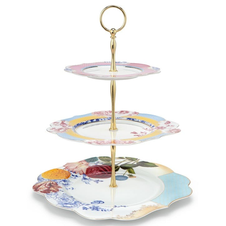 PiP Royal Floral 3 Tier Cake Stand