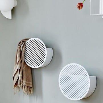 Diagonal, Small Wall Basket, White