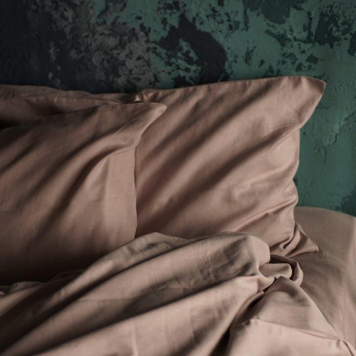 Linen & Bamboo Blend Pillowcase Set, Champagne Pink
