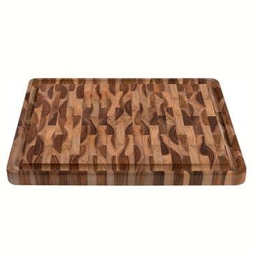 Teak End Grain Chopping/Serving Board, 45 x 34cm