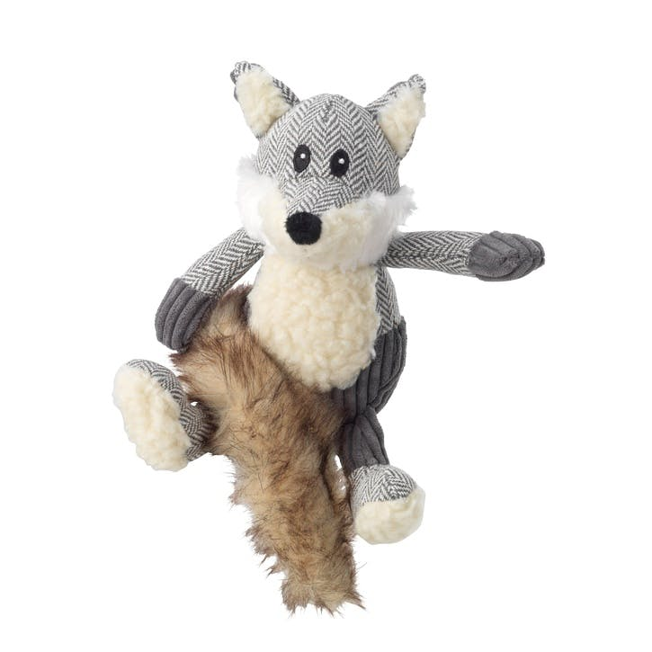 Bushy Tail Tweed Fox Dog Toy