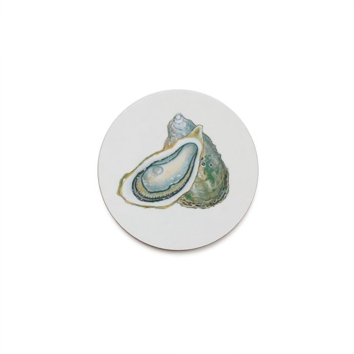 Seaflower Oyster Coaster, 10cm, Multi
