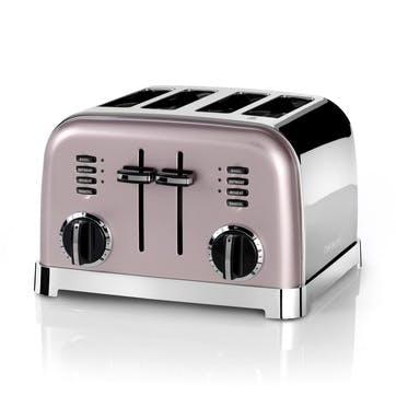 4 Slice Toaster, Vintage Rose