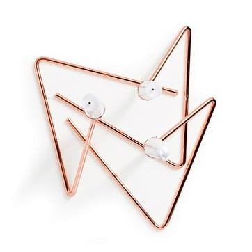 Puzzle Candle Sticks, Set of 3, Copper
