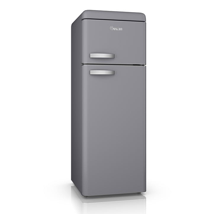 Retro Top-Mounted Fridge Freezer, Grey