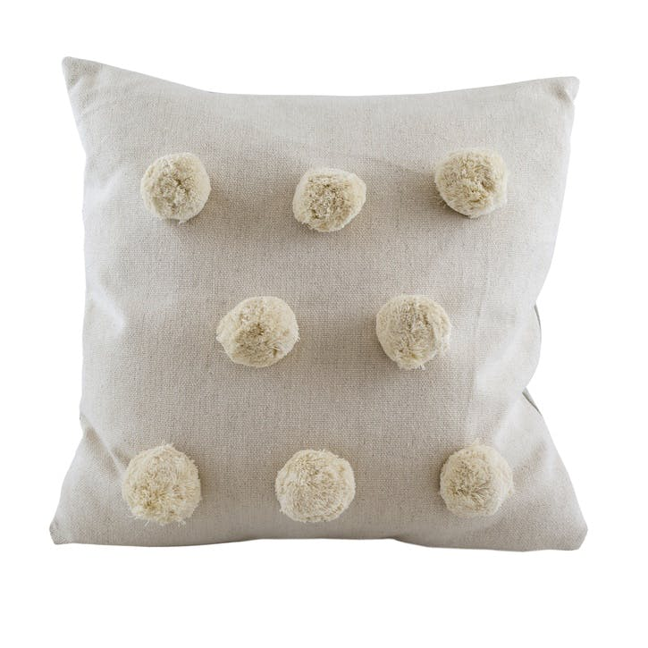 Giant Pom Pom Cushion, Cream