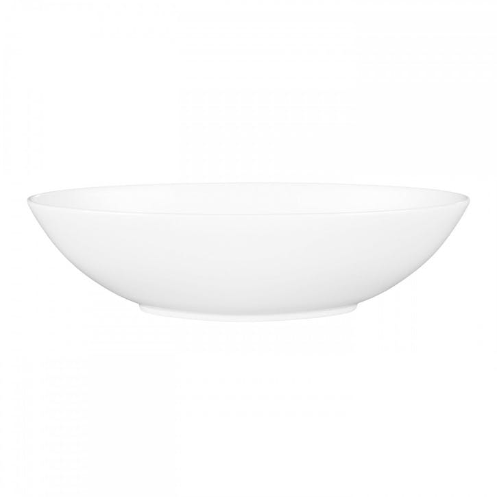 White Serving Bowl, Oval