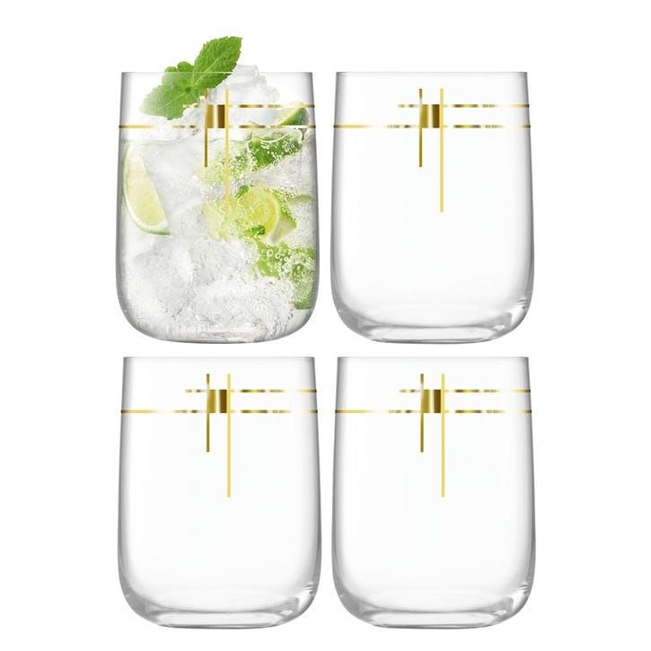 Century, Bar Glass, Set of 4, 625ml, Gold