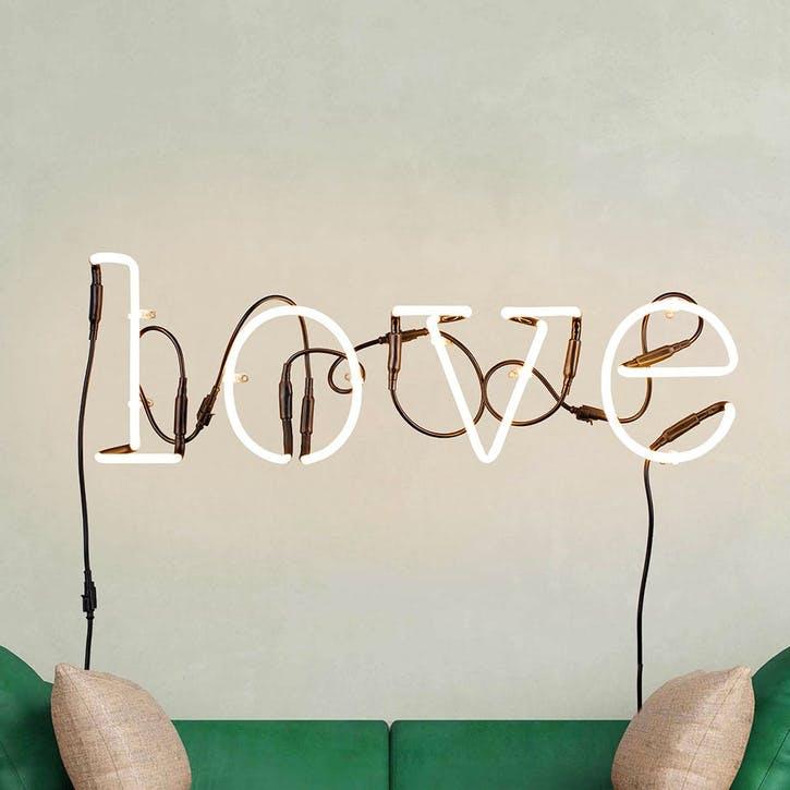 Love, Neon Art, White