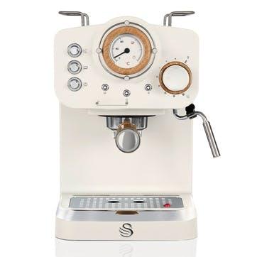 Nordic Espresso Machine, Cotton White