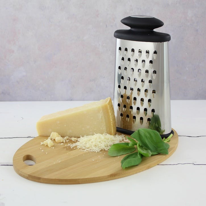 Oval Grater, Black Satin