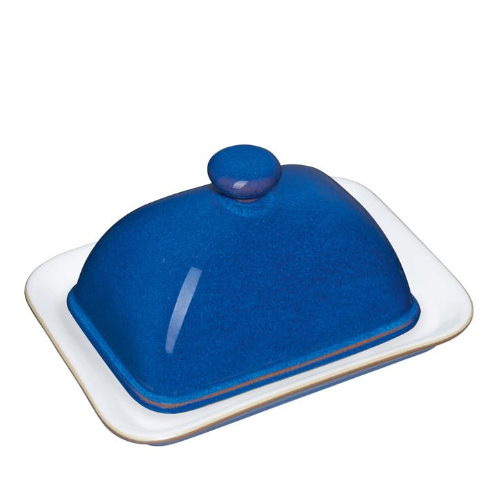 Imperial Blue Butter Dish, 15cm
