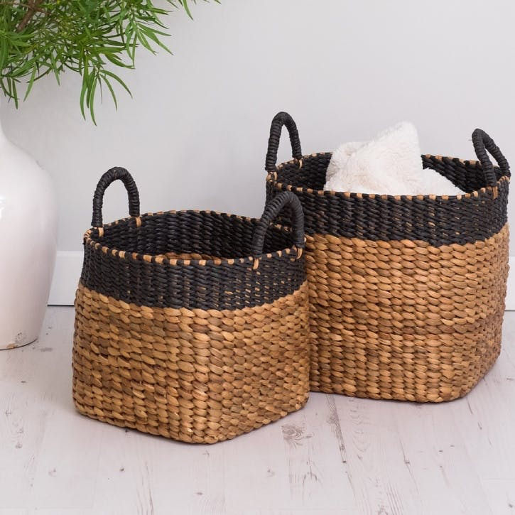 Natural Wicker Baskets, Set of 2