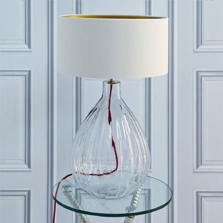 Glass Pumpkin Table Lamp