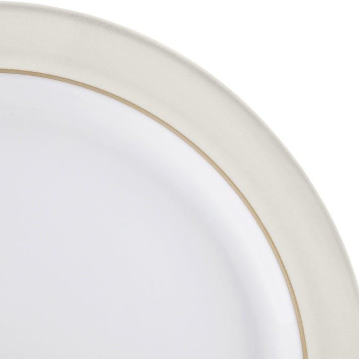 Natural Canvas Dinner Plate, 27cm, Cream