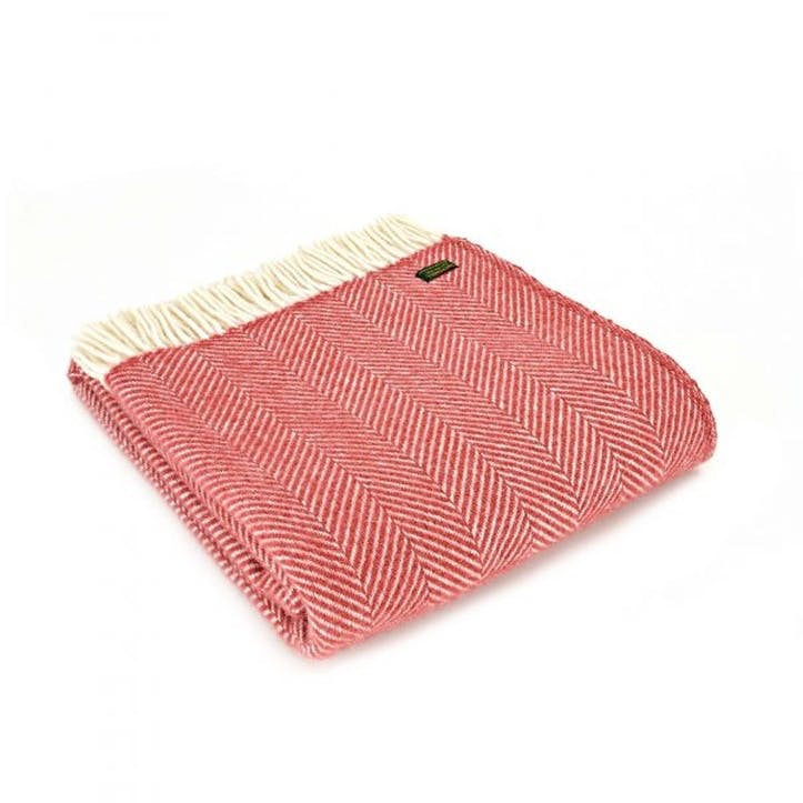Fishbone Throw; Cranberry