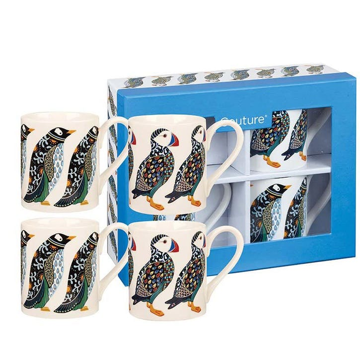 Puffins & Penguins Mug Set