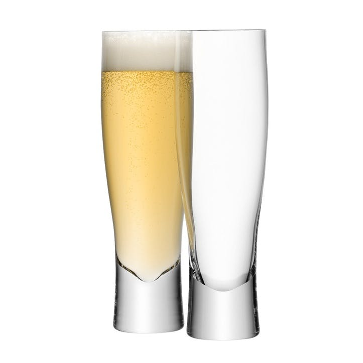 LSA Bar Lager Glass, 550ml, Set of 2