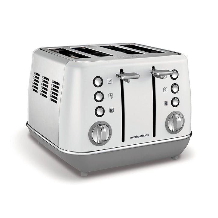 Evoke 4 Slice Toaster; White