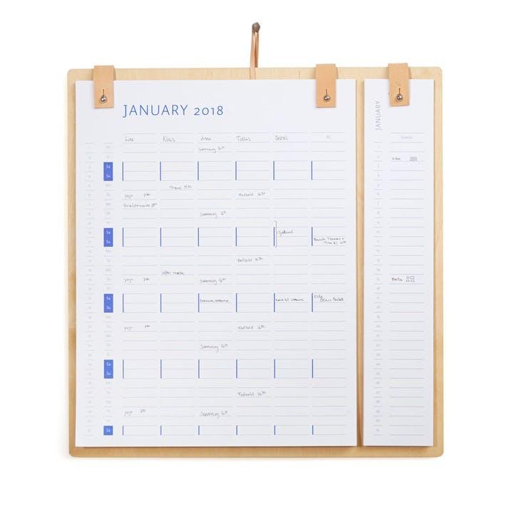 Planner Board 2020/2021, Natural Oak