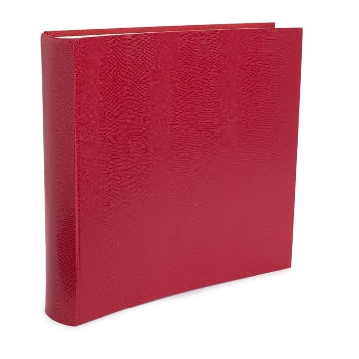 Jubilee Faux-Leather Square Photo Album, Tomato