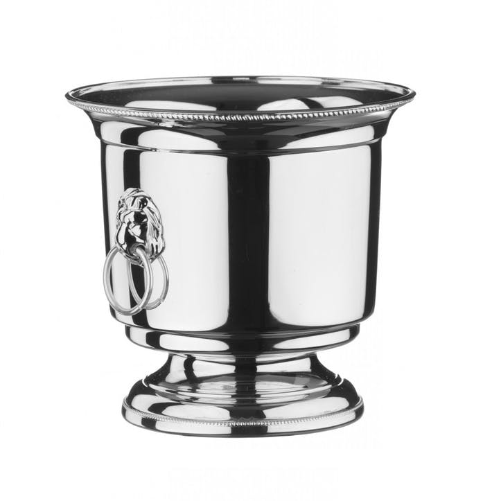 Silver Plated Ice Bucket and Strainer