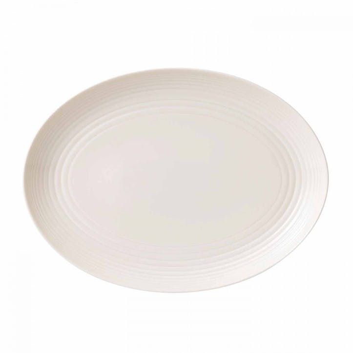 Gordon Ramsay Maze Oval Dish, White