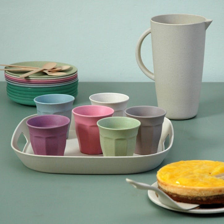 Cupful of Colour Cups Large, Set of 6, Dawn
