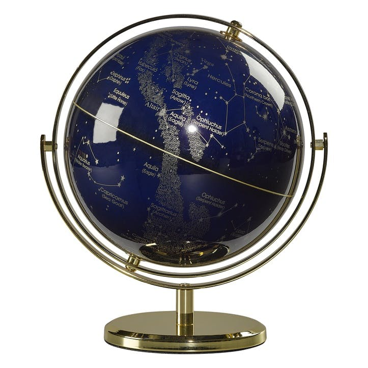 "Globe Swivel Stand 8"", Night Sky"