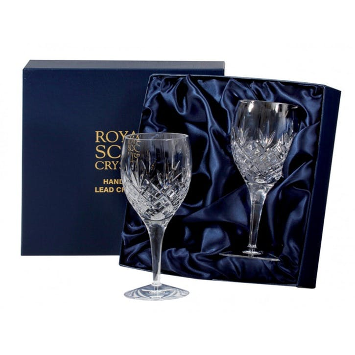 Edinburgh Large Crystal Wine Glasses, Set of 2