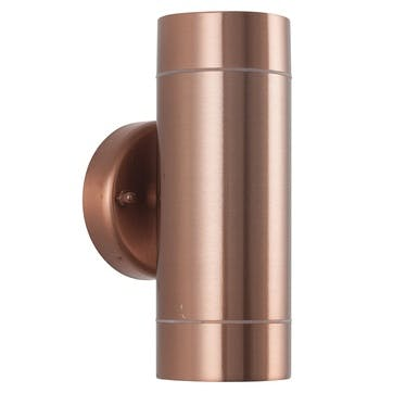 Dual Outdoor Wall Light; Copper