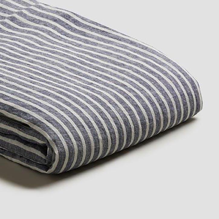 Complete Bedding Bundle Kingsize Set Midnight Stripe