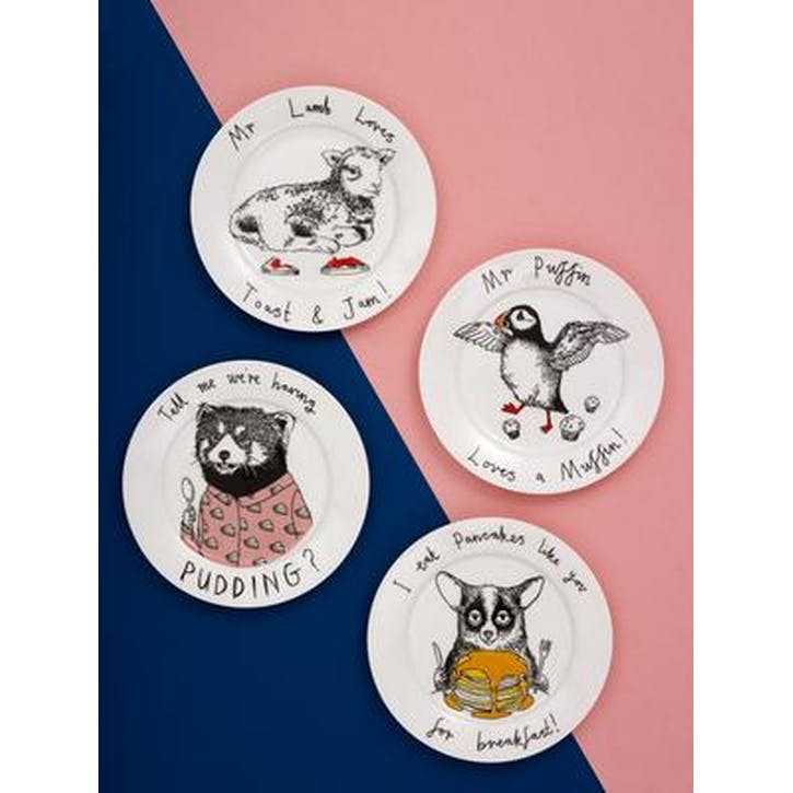 'Mr Puffin Loves A Muffin' Side Plate