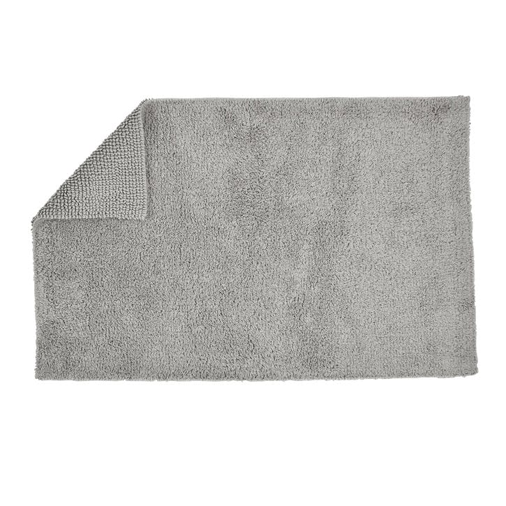 Reversible Bath Mat, Silver
