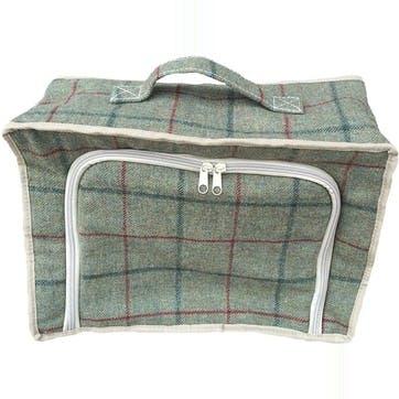 Tweed Cooler Bag, Green