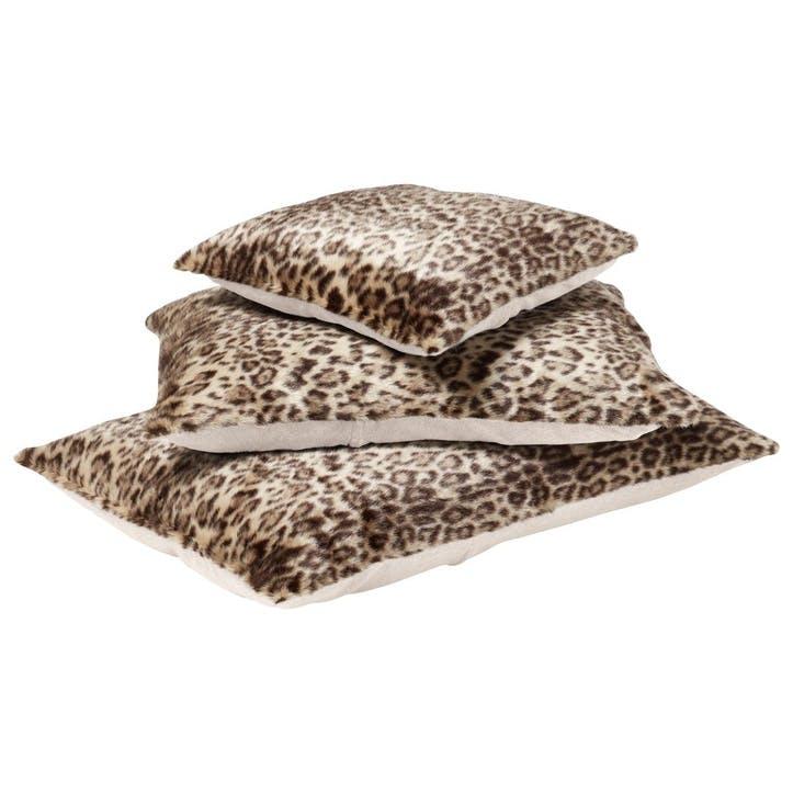 Leopard Faux Fur Pet Cushion, Large