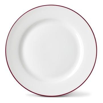 Rainbow Side Plate, Cerise Pink