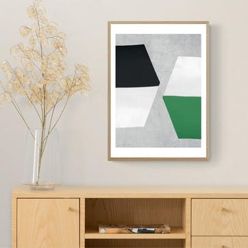 Seventy Tree, Hex Framed Art Print