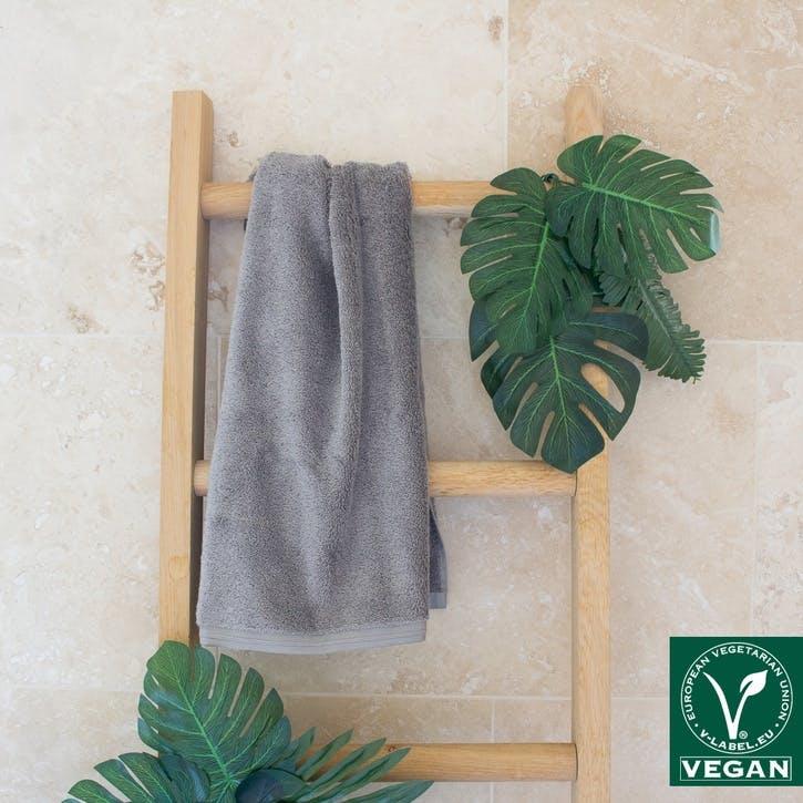 Vegan Life Hand Towel, Pebblestone