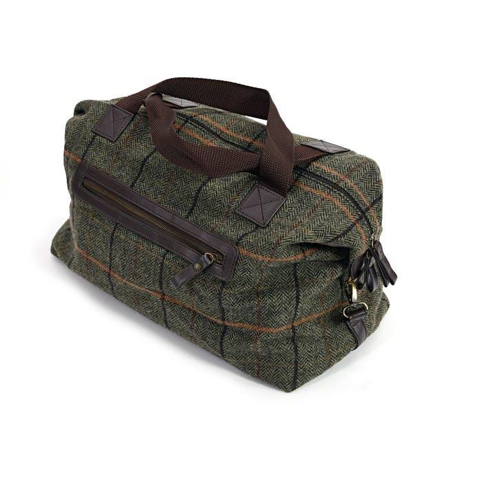 Weekend Bag; Dark Green Crosshatch