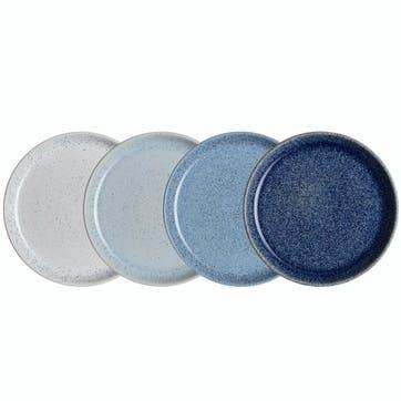 Studio Blue Set of 4 Medium Couple Plates