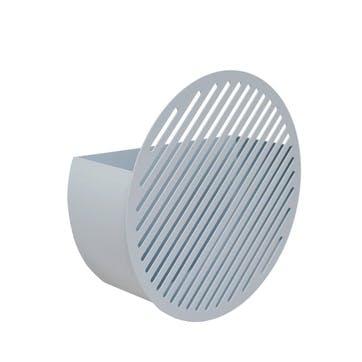 Diagonal, Medium Wall Basket, Grey